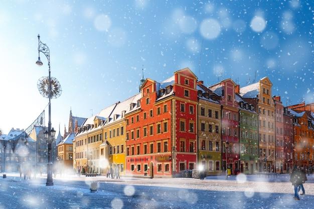 ポーランド、ヴロツワフのマーケット広場