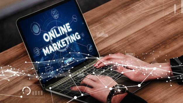 Marketing of digital technology business conceptual