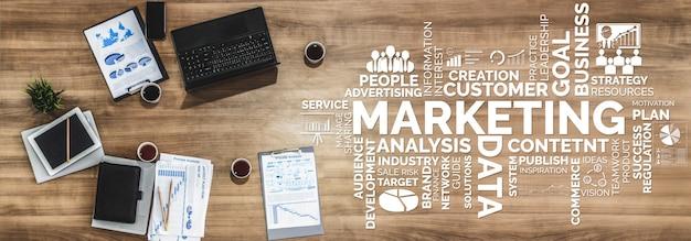 Маркетинг цифровой технологии бизнес-концепция