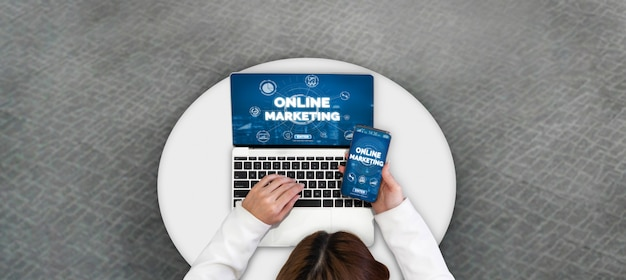 デジタルテクノロジービジネスコンセプトのマーケティング