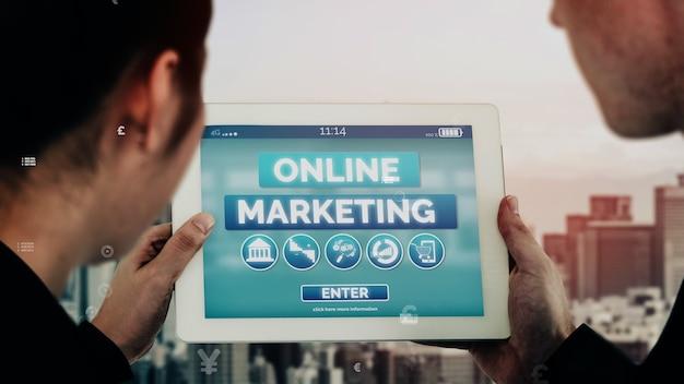 Маркетинг цифровых технологий бизнес-концептуальный