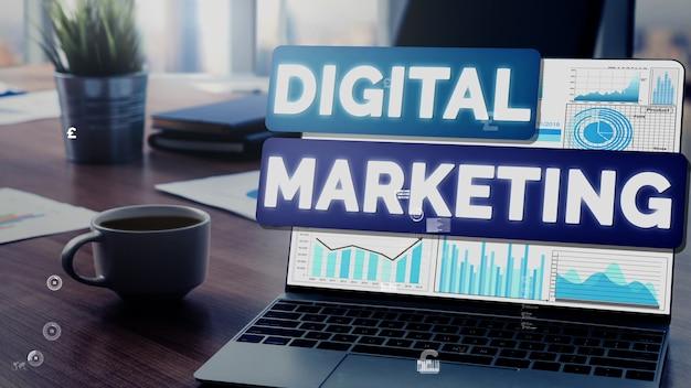디지털 기술 비즈니스 개념의 마케팅