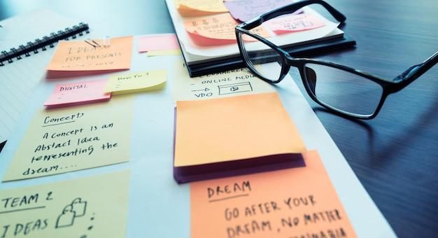 事務処理とマーケティング戦略の概念