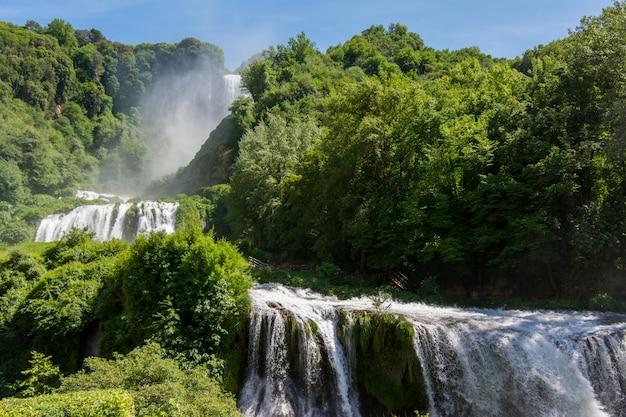Marmore falls, cascata delle marmore, in umbria, italy.