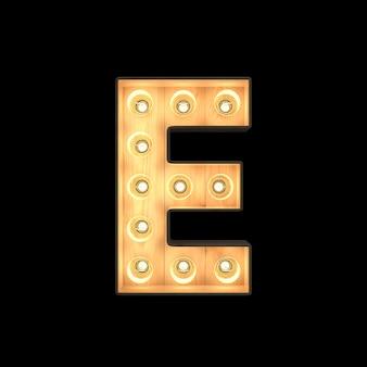Marquee light alphabet e