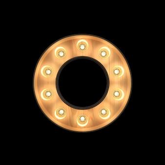 Marquee light alphabet o