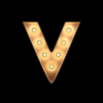 큰 천막 빛 알파벳 v