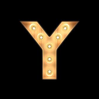 움직이는 빛 알파벳 y