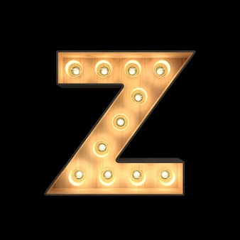 Marquee light alphabet z