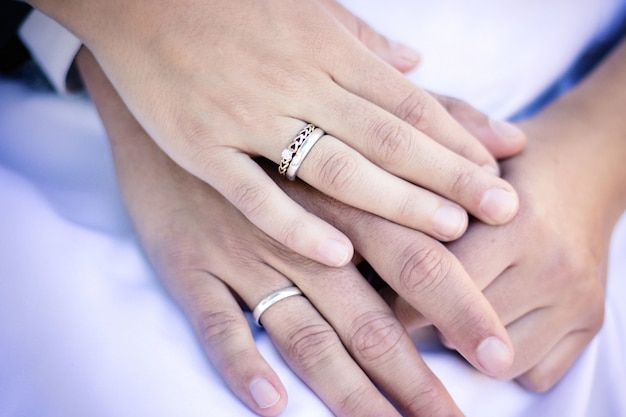 Marriage fastened from hands