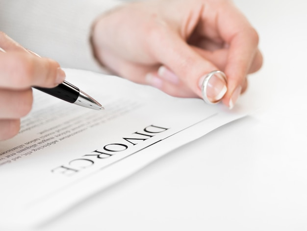 Marriage ring and divorce contract