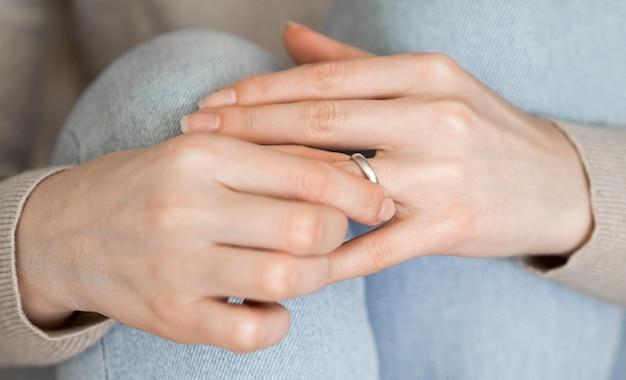Marriage ring taken off
