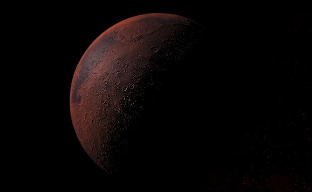 火星の惑星と宇宙