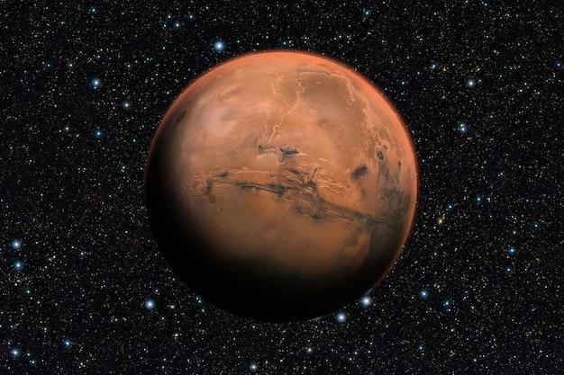 우리 태양계 너머 화성 행성.