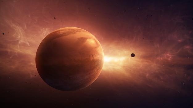 太陽系の火星惑星
