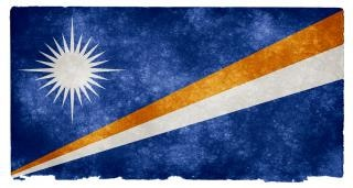 Marshall islands grunge flag  symbolic