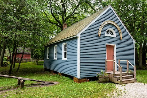Marshallville school - one-room schoolhouse at historic cold spring village, nj, usa