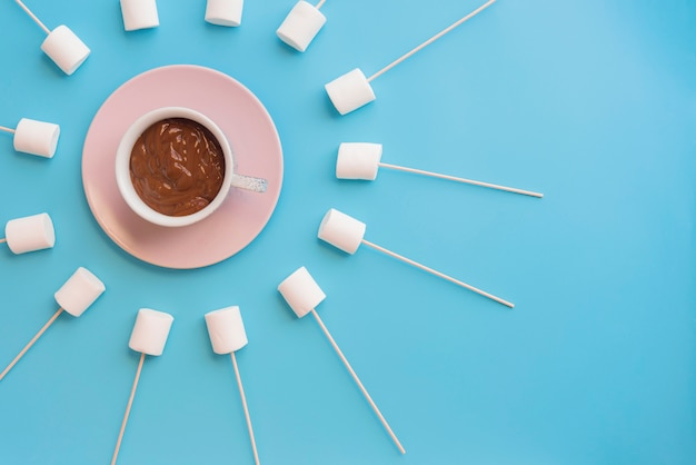 Marshmallows with chocolate