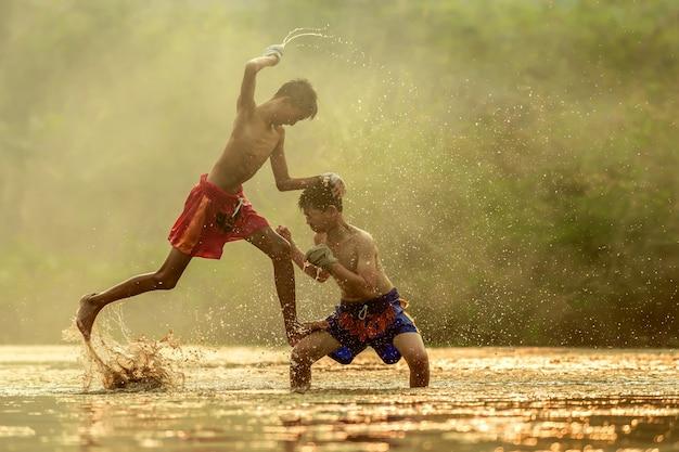 The martial art of muay thai