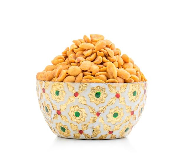 インド伝統の軽食masala peanuts
