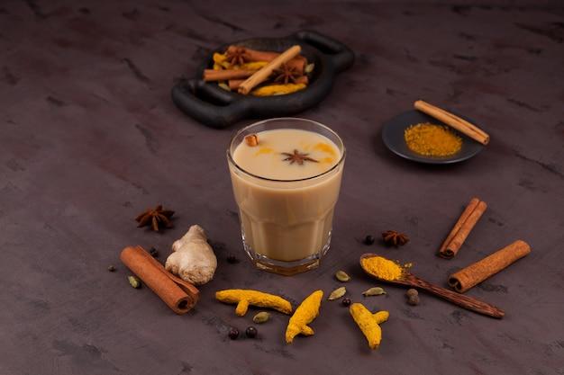 Masala tea or karak chai.