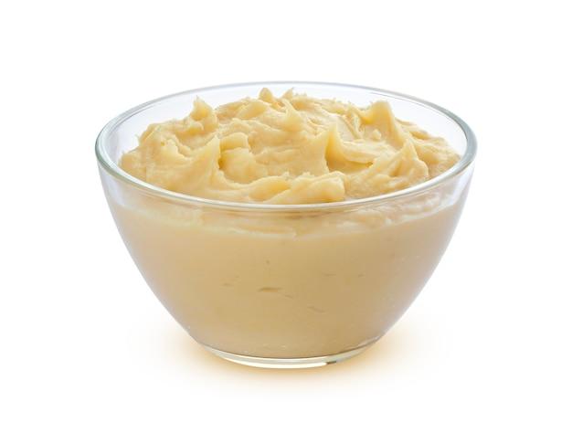 Mashed potatoes isolated on white