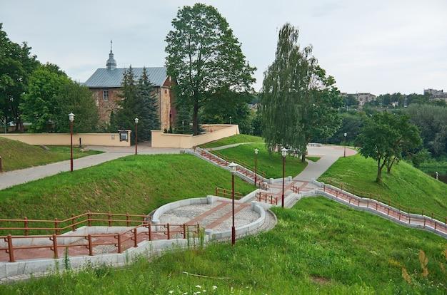組積造kalozha教会。グロドノ。ベラルーシ