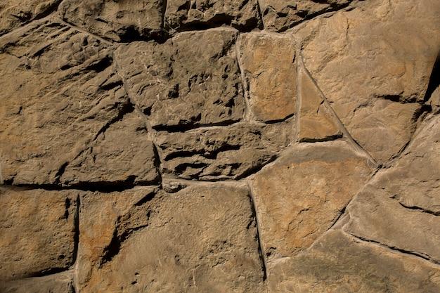 野生の石の石積み。クローズアップショット