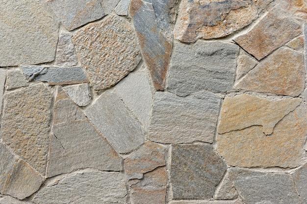 住宅の壁の石積み