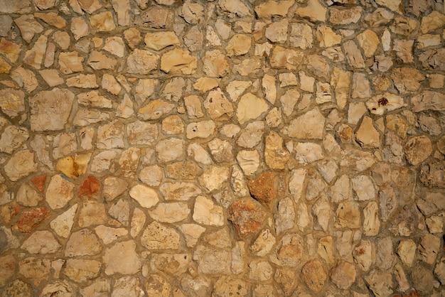 Masonry wall stonewall in mediterranean
