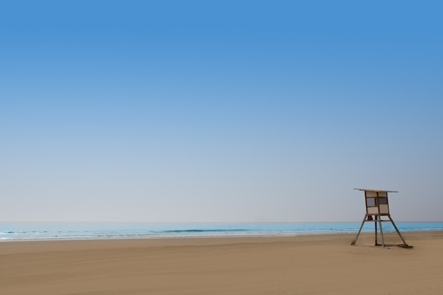 Maspalomas playa del ingles beach in gran canaria