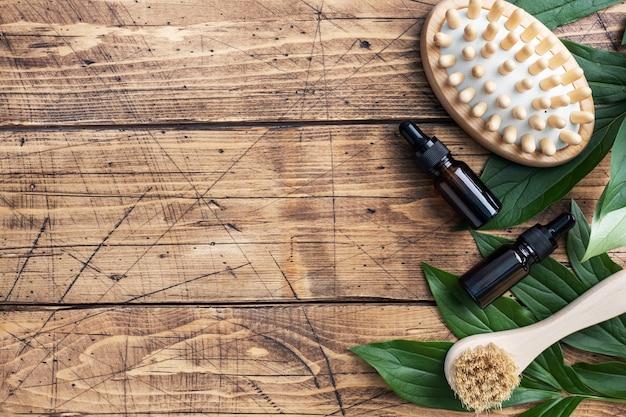 マッサージブラシと化粧油