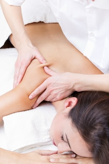 Massage close lying health womans
