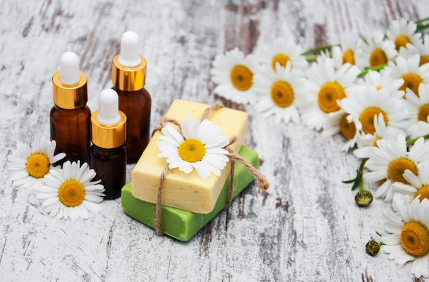 Massage oils and soap