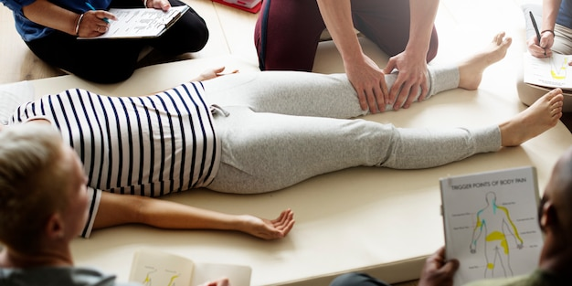 Massage therapy group training class