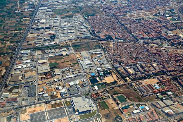 Massanassa and catarroja villages aerial