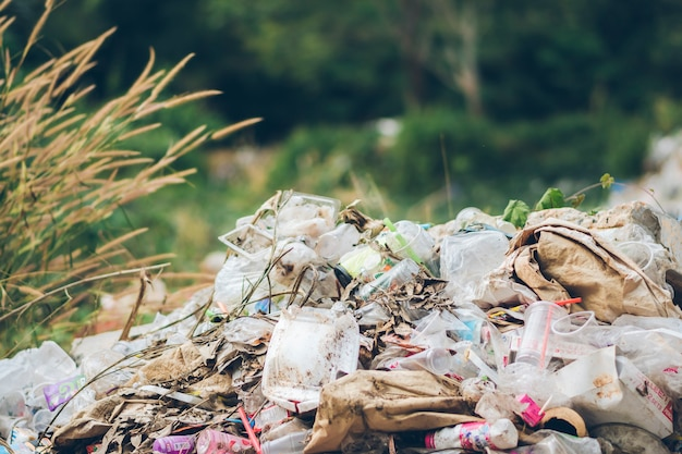 Massive piles full of plastic waste