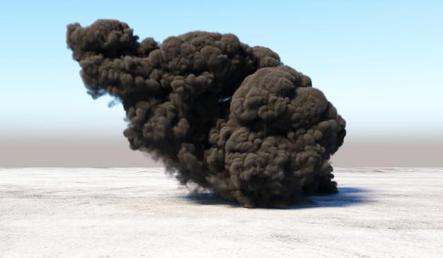 Массивный дым после взрыва на пустом месте
