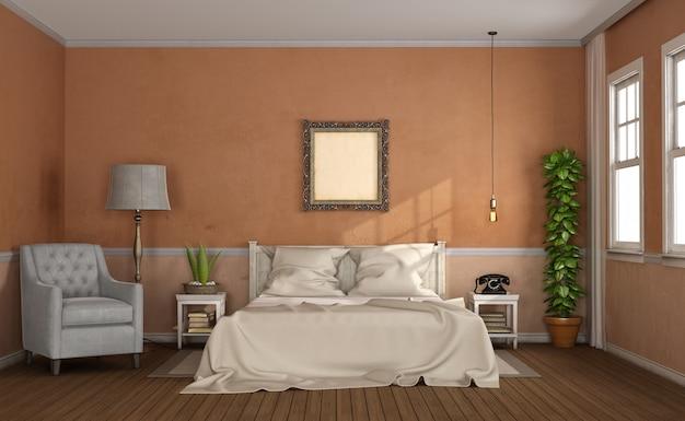 クラシックなスタイルのマスターベッドルーム