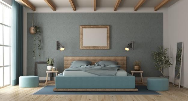 복고 스타일의 침실