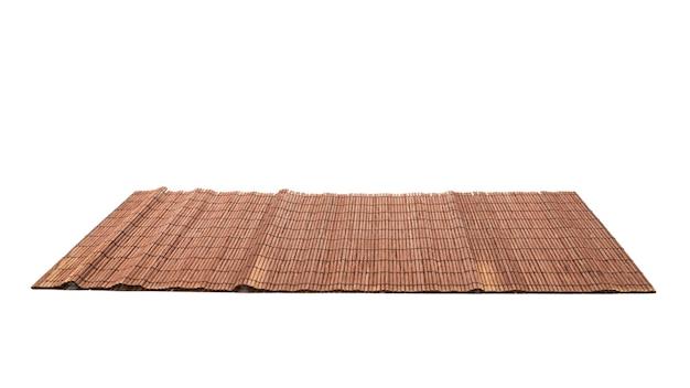 白い背景で隔離の寿司のマット。上面図。