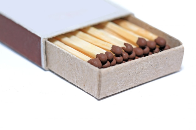 Match box on white background