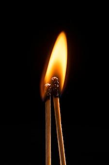 Спичка фона пламени, изображение с высоким разрешением