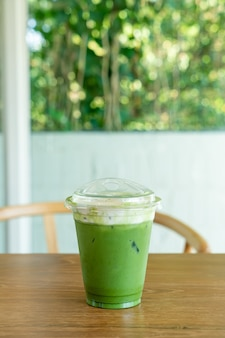 Matcha green tea cream cheese in take away cup