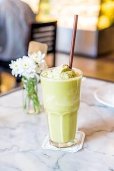 Matcha green tea frappe