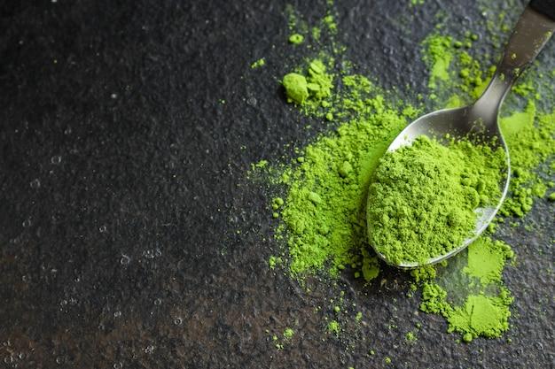 Matcha - green tea powder, food supplement