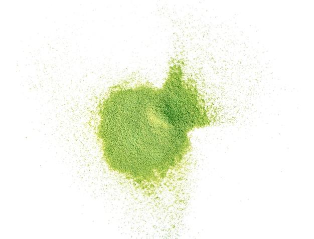 Порошок зеленого чая матча вид сверху