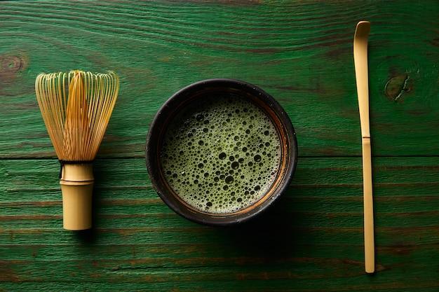 Чай матча бамбуковый венчик чейзен и ложка