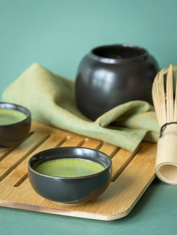 Matcha tea in a cup