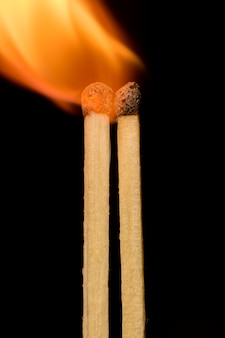 Matches on a black background
